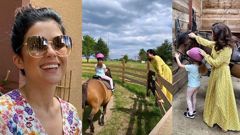 """Katarzyna Cichopek """"zaszczepia córci"""" miłość do koni: """"Dawniej ja galopowałam po mazurskich terenach"""" (ZDJĘCIA)"""