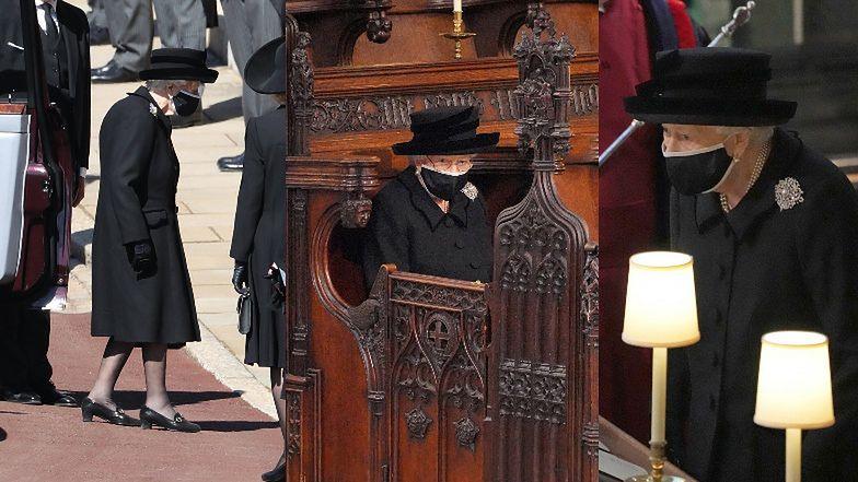 Pogrzeb księcia Filipa. Pogrążona w żałobie królowa Elżbieta roni łzy w kaplicy nad trumną męża (ZDJĘCIA)