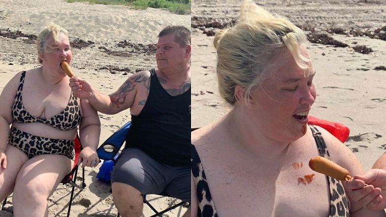 Umorusana keczupem Mama June świętuje niepodległość USA, gryząc parówkę w cieście (ZDJĘCIA)