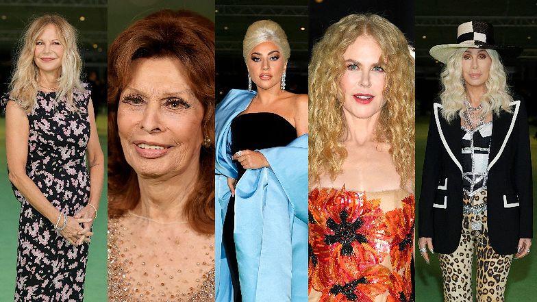 Zatrzęsienie gwiazd na gali Academy Museum of Motion Pictures: Lady Gaga, Nicole Kidman, Sophia Loren, Meg Ryan... (ZDJĘCIA)