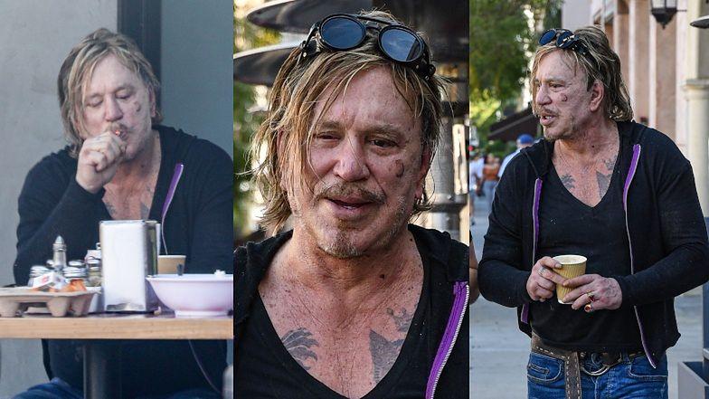 Poturbowany życiem Mickey Rourke paraduje po Beverly Hills z podejrzaną BLIZNĄ na twarzy (ZDJĘCIA)