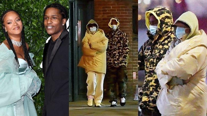 Zakapturzeni Rihanna i ASAP Rocky przyłapani na RANDCE w Nowym Jorku! (ZDJĘCIA)