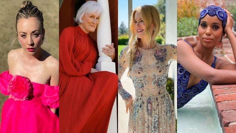 SAG Awards 2021. Gwiazdy celebrują galę w domach: Nicole Kidman, Anya Taylor-Joy, Kaley Cuoco (ZDJĘCIA)