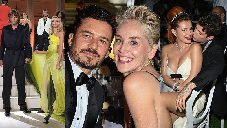 Gala amfAR w Cannes: Orlando Bloom zabawia Sharon Stone, Stella Maxwell i Bella Thorne tulą się do partnerów  (ZDJĘCIA)