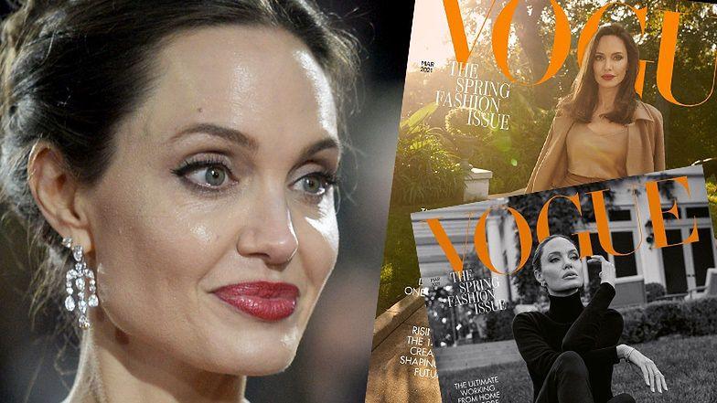 """Angelina Jolie pozuje na dwóch okładkach brytyjskiego """"Vogue'a"""" i wyznaje: """"LUBIĘ BYĆ STARSZA"""""""