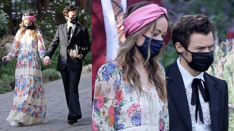 Harry Styles i Olivia Wilde TRZYMAJĄ SIĘ ZA RĘCE na ślubie jego agenta
