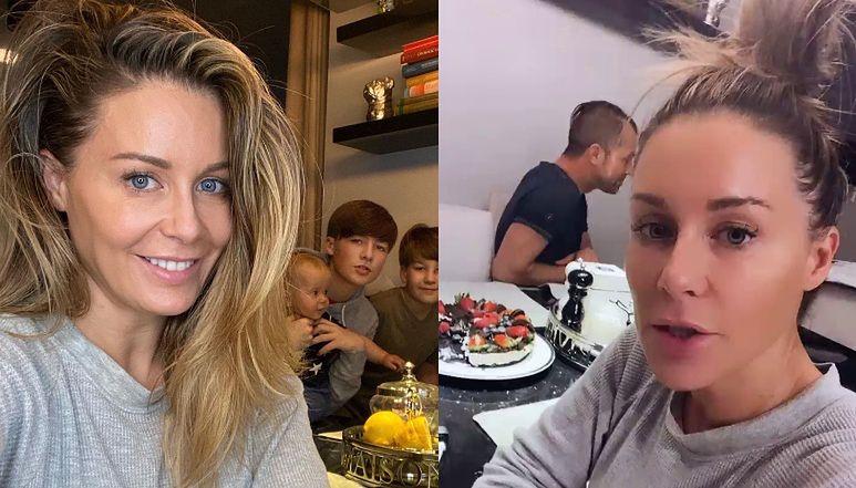 """Małgorzata Rozenek chwali się wizytą brata. Fanki: """"BRAD PITT JAK ŻYWY"""" (FOTO)"""