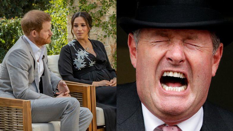 """Piers Morgan MIAŻDŻY wywiad Meghan i Harry'ego u Oprah: """"Wyraźnie mu zależy, aby cały świat znienawidził jego rodzinę"""""""