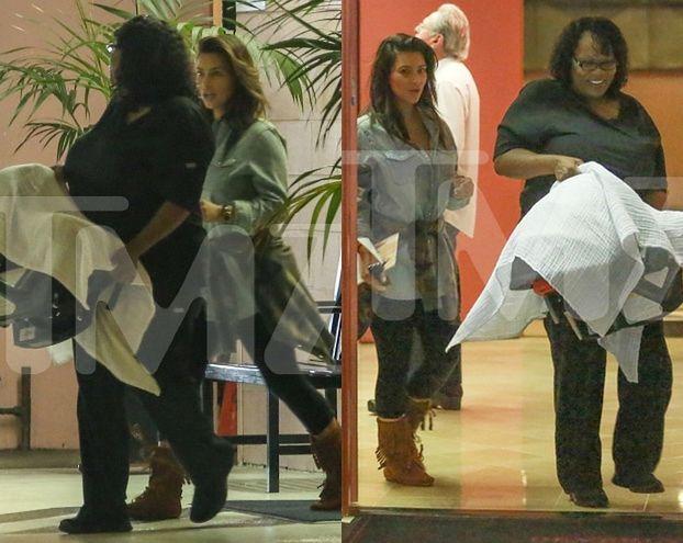 Kim Kardashian po raz pierwszy po porodzie! (FOTO)