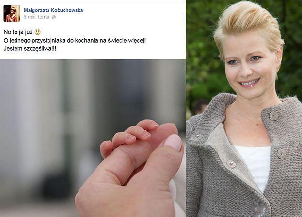 Małgorzata Kożuchowska URODZIŁA chłopca!
