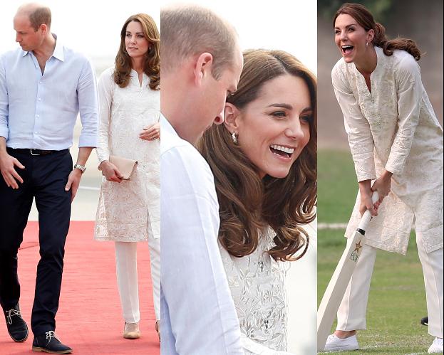 Księżna Kate z księciem Williamem podążają śladami Diany podczas wizyty w Pakistanie (ZDJĘCIA)