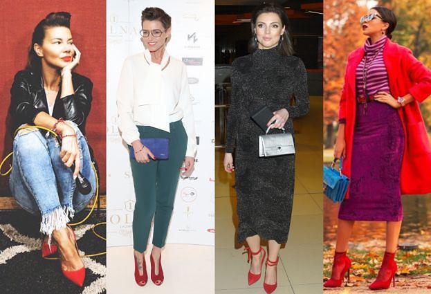 Czerwone szpilki w stylizacjach celebrytek - największe trendy