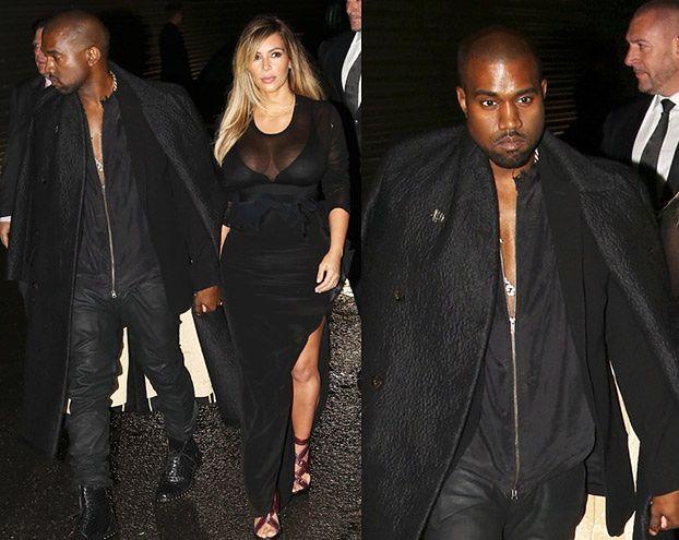 Smutni Kanye i Kim na czarno... (ZDJĘCIA)