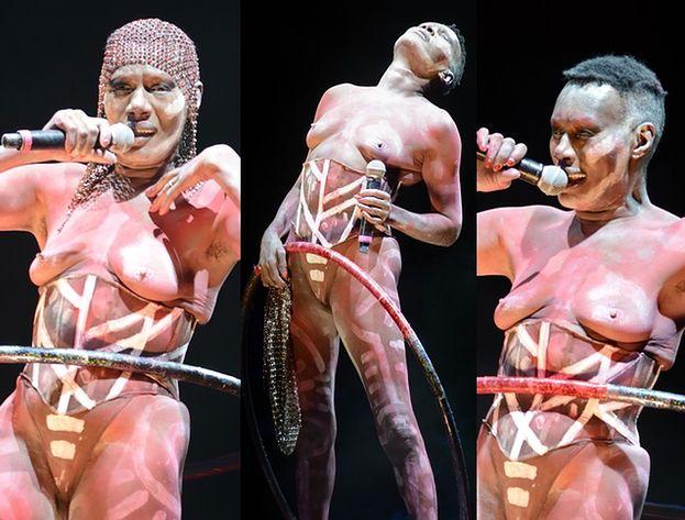 Grace Jones BEZ STANIKA na scenie... (ZDJĘCIA)