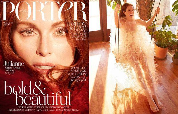 """Olśniewająca Julianne Moore w jesiennej sesji dla """"Porter Magazine"""""""