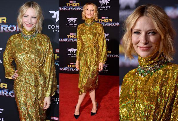 """Złota Cate Blanchett promuje nowego """"Thora"""""""