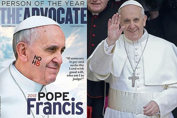 """Papież wybrany """"Człowiekiem Roku""""... PRZEZ GEJÓW!"""