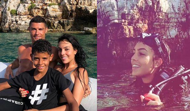 Rodzinne wakacje Cristiano Ronaldo: namiętne pocałunki, nurkowanie i czas z dziećmi (ZDJĘCIA)