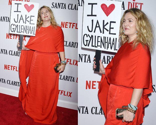Drew Barrymore wyznaje miłość na ściance