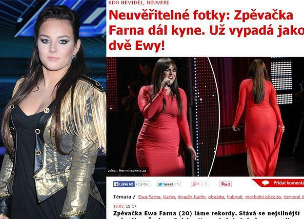 """Czeskie media o nadwadze Farnej: """"WYGLĄDA JAK DWIE EWY!"""""""