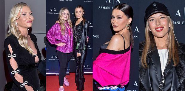 Celebrytki na imprezie Armani Exchange Party: grająca ramieniem Sieklucka, Madeńska w dzwonach i elegancka Janoszek (ZDJĘCIA)