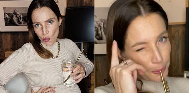 """Anna Dereszowska DEMENTUJE sugestie, jakoby piła alkohol w ciąży: """"Dziękuję za zastrzyk adrenaliny, TERAZ GO NIE POTRZEBUJĘ"""""""
