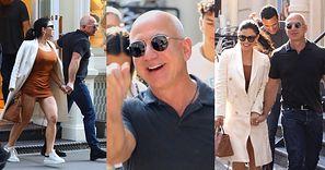 Najbogatszy człowiek świata Jeff Bezos robi zakupy w towarzystwie skąpo odzianej ukochanej, jej byłego partnera i jego obecnej żony (ZDJĘCIA)