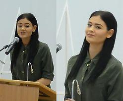 """Honorata Skarbek przemawia do... policjantów: """"Zaczęłam swoją karierę w wieku 14 lat"""""""