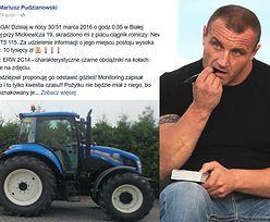 Pudzianowi ukradziono traktor!