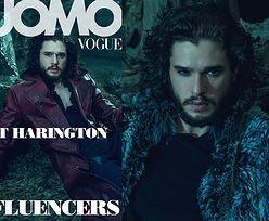"""Mroczny Kit Harington w """"L'Uomo Vogue"""""""