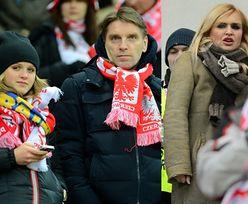 Lis z córką i Olejnik na meczu Polska-Ukraina! (ZDJĘCIA)