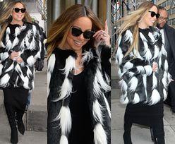 Mariah Carey promuje nowy krążek w futrzanym płaszczu à la Cruella De Mon