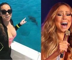 """Mariah Carey przestraszyła się rekina i zapowiedziała, że już nigdy się nie wykąpie. """"Jestem ZDENERWOWANA"""""""