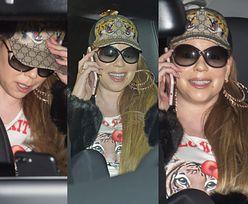 Rozbawiona Mariah Carey zwiedza Berlin w bejsbolówce Gucci