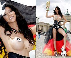 NAGA MODELKA kibicuje Niemcom na mundialu! (FOTO)
