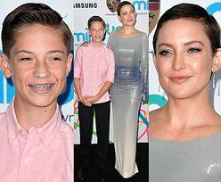 Zafoliowana Kate Hudson promuje 13-letniego syna