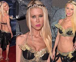 Półnaga Tara Reid straszy na imprezie halloweenowej... (ZDJĘCIA)