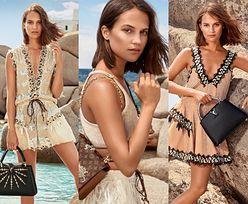 Alicia Vikander podpiera głazy w nowej kampanii Louis Vuitton