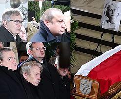 Łukaszewicz, Mozil i Gliński na pogrzebie Aliny Janowskiej