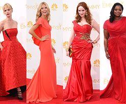 Czerwone suknie na gali Emmy... (ZDJĘCIA)