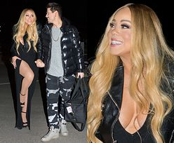 Szczęśliwa Mariah Carey kusi chłopaka udem i dekoltem