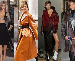 Z czym celebrytki noszą skórzane płaszcze?