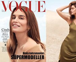 """Cindy Crawford na wyjątkowo niekorzystnej okładce """"Vogue'a"""""""
