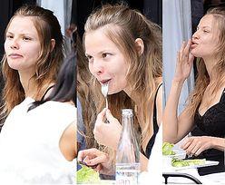 Magdalena Frąckowiak bez makijażu na obiedzie w Paryżu (ZDJĘCIA)