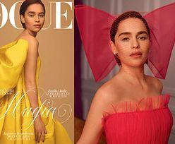 """Wiosenna Emilia Clarke pozdrawia z okładki """"biblii mody"""""""