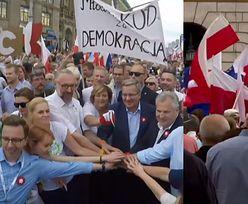 """Petru na marszu KOD-u: """"Być może będzie potrzebna rewolucja, żeby obalić PiS!"""""""