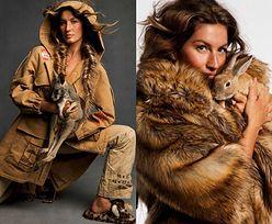 """Gisele Bundchen męczy zwierzęta w paryskim """"Vogue'u"""""""