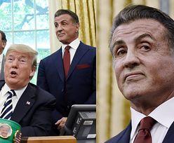 Zdeformowany Sylvester Stallone odwiedził Trumpa w Białym Domu (ZDJĘCIA)