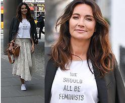 Dominika Kulczyk promuje feminizm... hasłem na koszulce