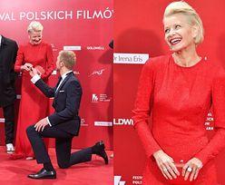 """Małgorzata Kożuchowska """"przyjęła oświadczyny"""" na czerwonym dywanie"""
